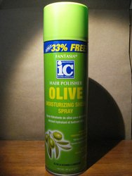Fantasia IC Hair Polisher Olive Moisturizing Sheen Spray