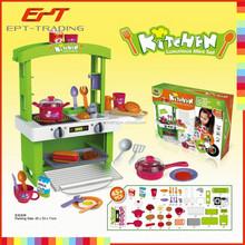 Superventas del bebé del juguete juego de ollas de cocina electrónica conjunto de juguete para el niño