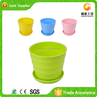 Fast Supplier Colourful Garden Plastic Flower Plant Pot
