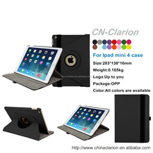 Tablet Case Leather Case 360 Rotating Case For ipad mini 4 case, for ipad case mini 4 rotating , Black