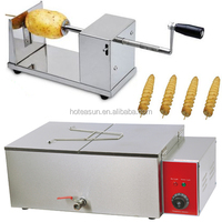 Hot Sale 2 in 1 Tornado Potato/Spiral Potato/Twister Potato Cutter + 110v 220v Electric Deep Fryer