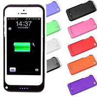 2200mAh Rechargeable External Battery Backup Charger Case Cover Pack Power Bank for Apple iPhone 5 5S 9 Colors Available L014144