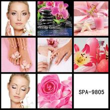 SPA-9805 beautiful fashion salon mural wall canvas design for perfume shop