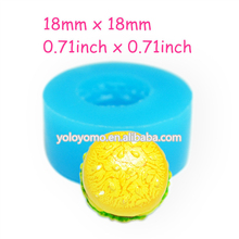 GYL357 Mini Hamburger Silicone Mold Craft Food Safe Polymer Clay Candy Fimo Clay Marshmallow Wax Mould