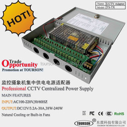 Professional 20A 240W 18ch Metal case Centralized CCTV switching power supply DC 12V