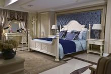 Good Quality Mediterranean style wooden bedroom furniture sets/king size bed/modern bedroom furniture