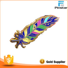 Wholesale gift items custom metal Pretty Feather hat pin