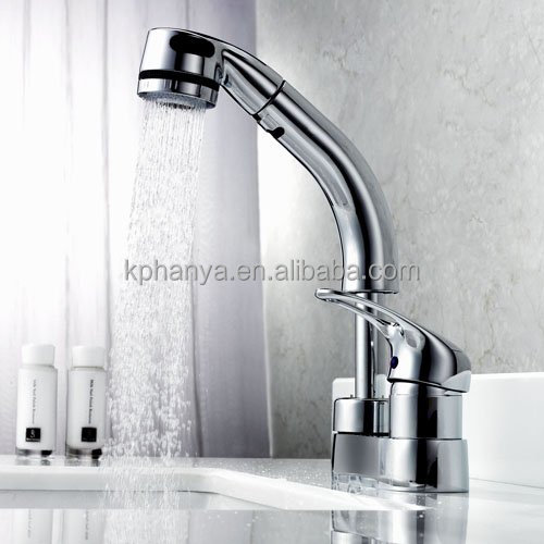 retractable kitchen faucet separated 2 hole sink mixer