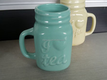 Candy Color and Embossed Ceramic Mug