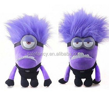 """Wholesale Despicable Me 2 Plush Toy 12"""" Evil Purple minion plush soft toy QFDT-2102"""