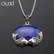 2015 new design good imitation jewellery necklace pendant antique silver