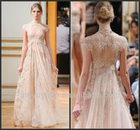 Wholesale High Quality Sexy See Through High Neck Lace Maternity Prom Dress 2014 C0006