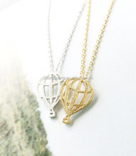 2015 fashion hot air ballon jewelry,pendant necklace`