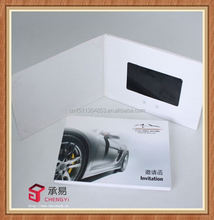 promotion advertising gift latest electronic booklet wedding video invatation cards