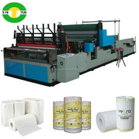 Edge trimming towel paper roll processing machine