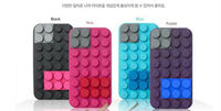 Blocks silicone cell phone case high creative modelling cover for iPhone5 ,generation 4 s cell phone protective case