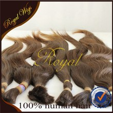 bulk hair for full lace wig /remy human hair bulk/washed and comb short hair