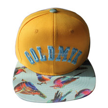 New fashion tropical hat 3D puff embroidery contrastive design