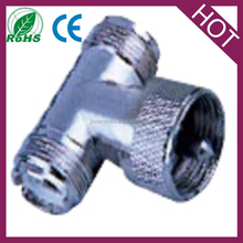 uhf T connector coupler splitter connector
