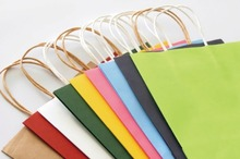 cheap price craft paper shopping bag with drawstring-Customized design