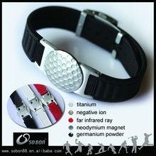 fashion energy silicone magnets bracelet negative ion band