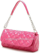 2012 fashion designer pure colour leather handbags for ladies