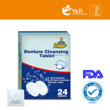 Eco-friendly cleaning tablets for clenaing dental