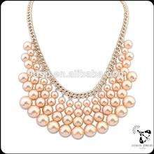 Venta al por mayor nuevos diseños multi- capa collar de perlas de joyería de fantasía