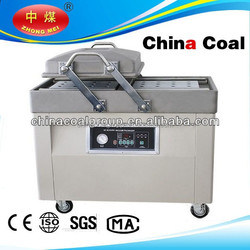 dz500 double chamber rice meat vacuum packaging machine