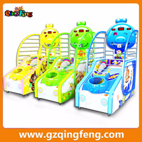 Qingfeng amusement center children basketball shooting machine electronic game machines for children