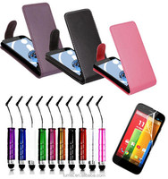 7 Colour PU Leather Wallet Flip Mobile Phone Case Cover For Motorola Moto G