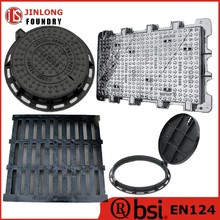 EN124 ductile cast iron manhole cover and gully grate from factory