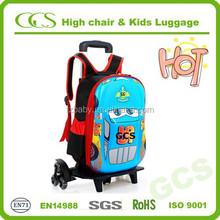 Eminent Polyester Fibre Child Boys Trolley Book Backpack, OEM Custom School Bag