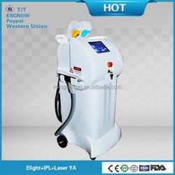 Stationary type 3in1 laser machine IPL Elight ND Yag laser salon beauty equipment