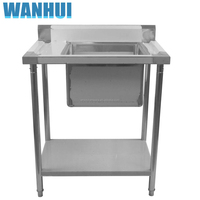 Restaurant Commercial Kitchenware Supplier Working Table new kitchen stainless steel folding sink work table