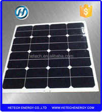 factory hot selling 50W 20% high efficiency sunpower semi flexible solar panel