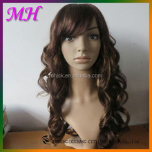 Xuchang Factory Supplier Synthetic Fake Full Lace Hair Wig Look Natural And Manageable
