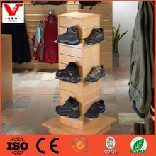 Retail shop shoe display cabinet,shoe wood racks for shops