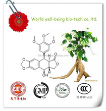 Fornecimento de fábrica Podophyllum hexandrum extrato 50% Podophylline