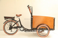 Electric van truck adult cargo bicycle tricycle/low price cargo bike