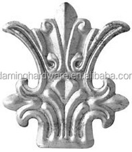 Daming Iron Art Stamped Leaves /Fittings For Artistic Metal Gate/Fence/Stair Railings ,Iron Grills Parts HY-415