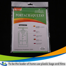 Yiwu whosale garment bag dry cleaning plastic suit covers bag