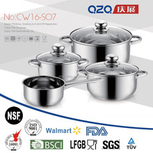 Stainless steel cookware 7pcs set
