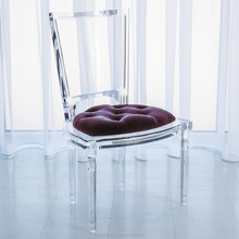 clear stylish acrylic dining chair living room chair