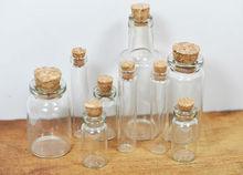 OEM cork art synthetic glass bottle small 30ml glass bottle cork top