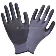 13G nylon shell PU coated gloves garden gloves
