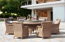 Outdoor Poly Rattan Furniture/ Synthetic PE Rattan Furniture (DH-7035)