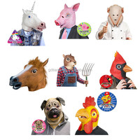 Rubber/Chickens/Latex/Costumes/Disguises/Cosplay/Halloween/Cock/Hens/Roosters/Fowl/Birds/Animals/Avian Mask