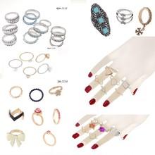 2015 Latest Design Jewelry Wholesale Fashion Metal Ring Sets