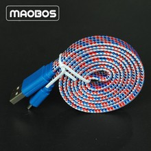 1 meter flat noodle cable usb cord wire to 8 pin